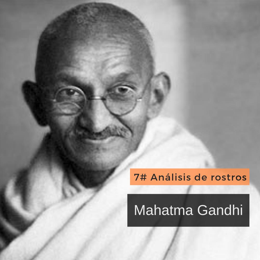 Mini análisis de rostros   Mahatma Gandhi